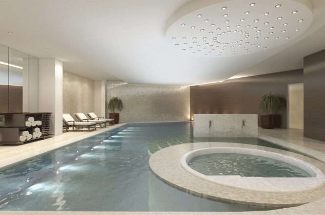 Underground swimming pool construction cool basements for Basement swimming pool construction